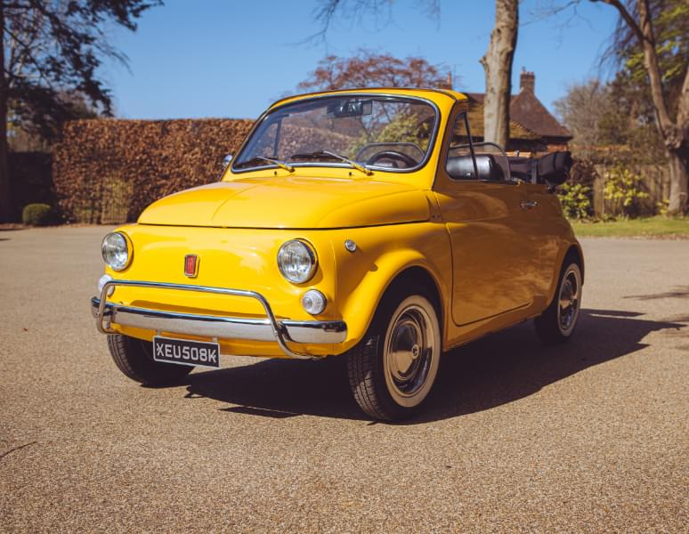 Fiat 500 1972: available for wedding car and self-drive hire